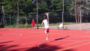 Allenamento per il torneo di frisbee