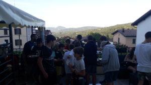 Festa e cena in terrazza